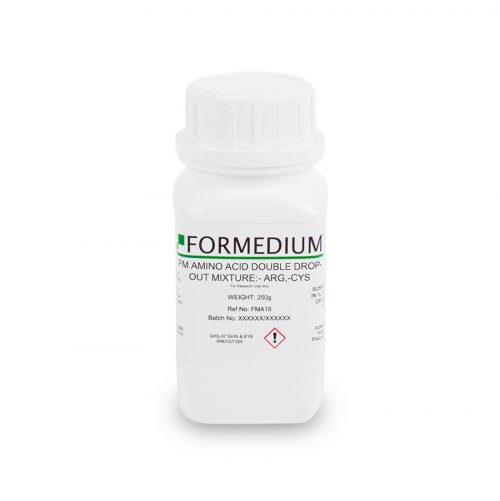 FM drop-out mixture, minus Arginine and w/o Cysteine, 7400 mg/l