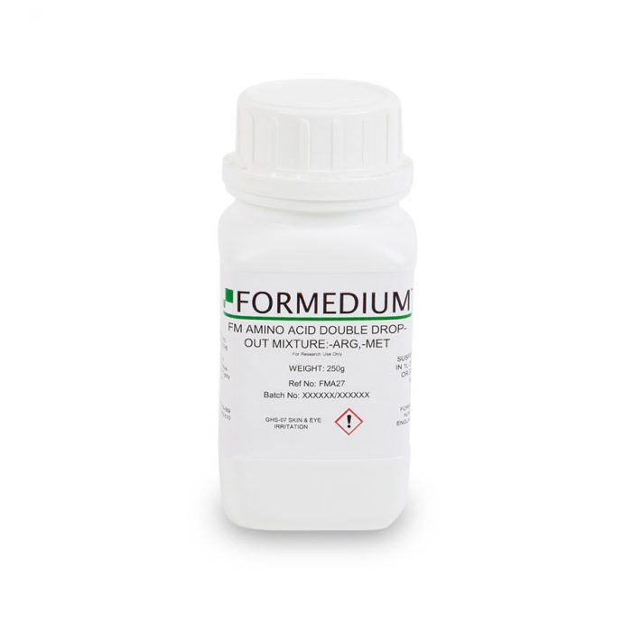FM drop-out mixture, minus Arginine and w/o Methionine, 7300 mg/l