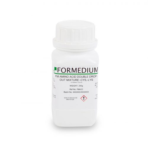 FM drop-out mixture, minus Cysteine and w/o Lysine, 7200 mg/l