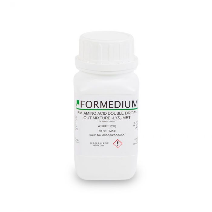 FM drop-out mixture, minus Lysine and w/o Methionine, 7100 mg/l