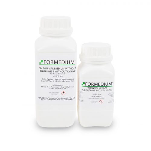 FM Minimal medium w/o Arginine and w/o Lysine